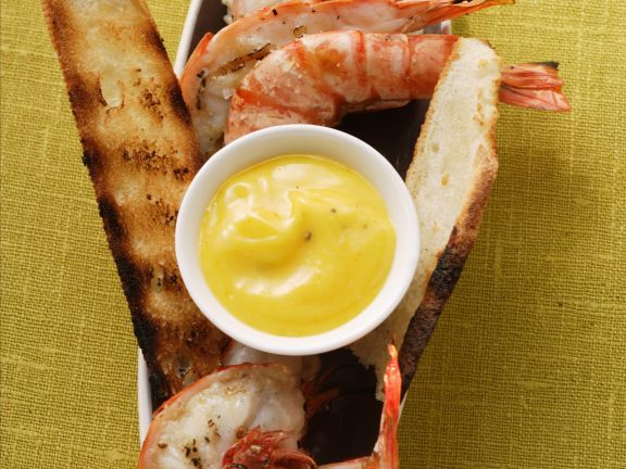 Gegrillte Shrimps mit Aioli