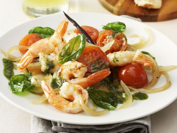 Gegrillte Shrimps mit Vanille-Salat