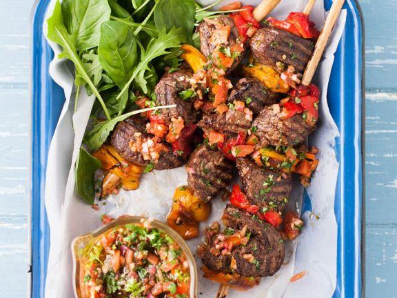 Gegrillte Steakspieße mit Chimicurri