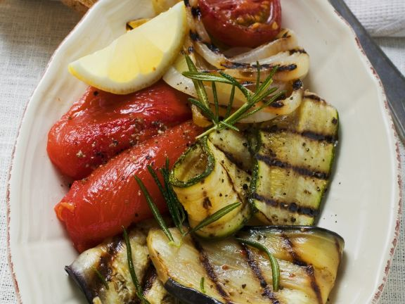 Gegrilltes Gemüse als Antipasti