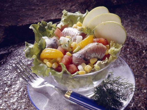 Gemischter Matjessalat