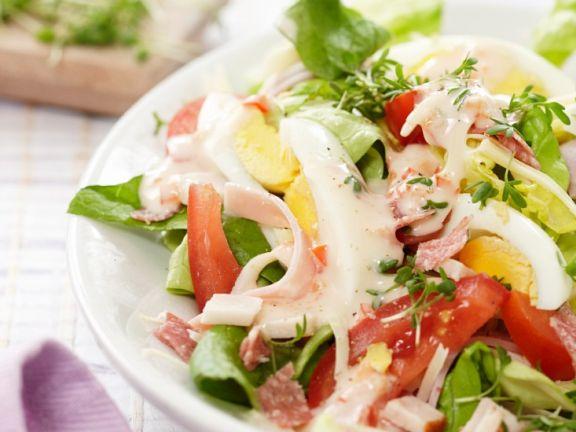 Gemischter Salat Mit Ei Und Joghurtdressing Rezept Eat Smarter