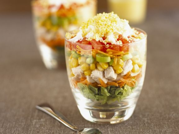 Gemischter Salat nach amerikanischer Art