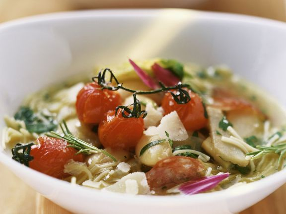 Gemüse-Artischocken-Suppe