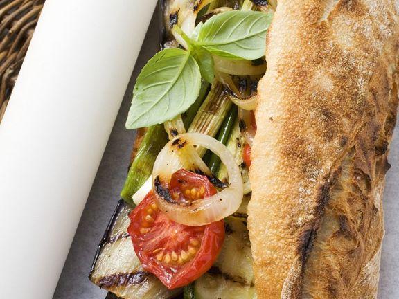 Gemüse-Baguette