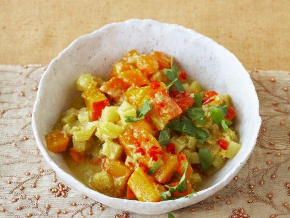 Gemüse-Curry mit Koriander