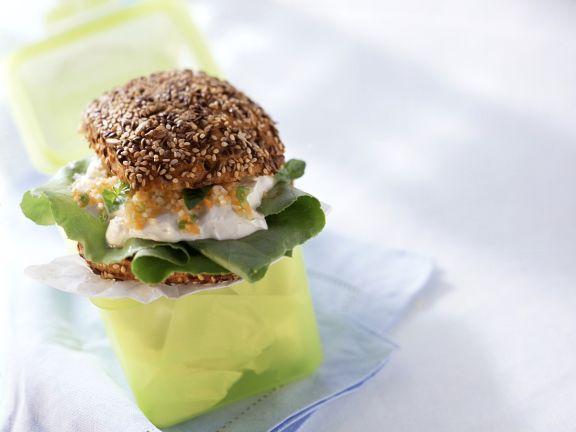 Gemüse-Frischkäsesandwich