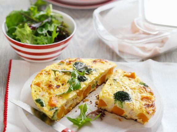 Gemüse-Frittata mit Kürbis