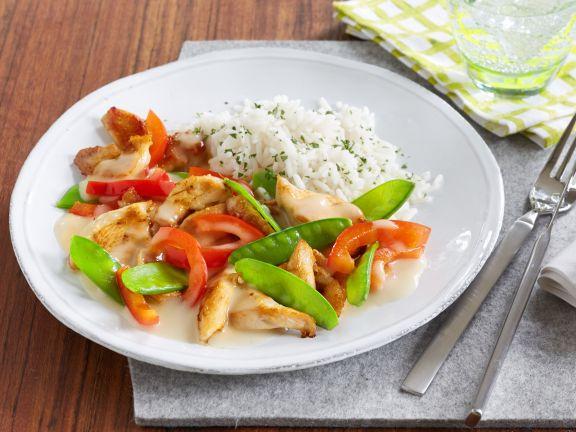 Gemüse-Hähnchengeschnetzeltes