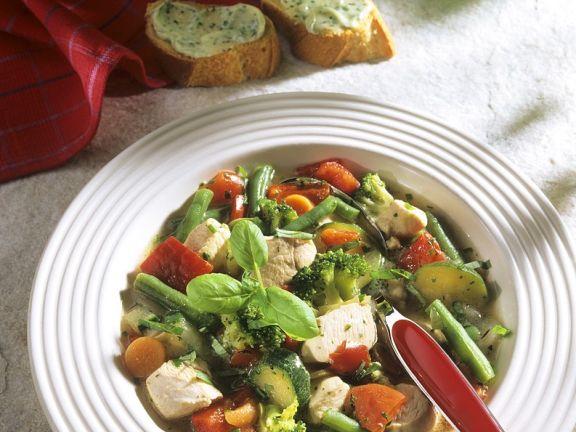 Gemüse-Hähnchentopf