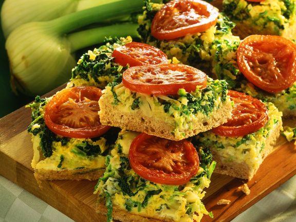 Gemüse-Hefekuchen