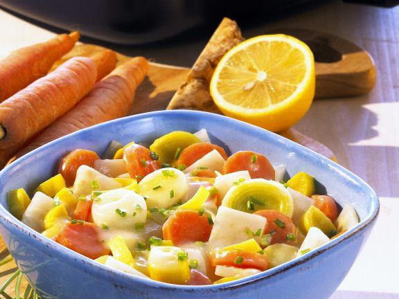 Gemüse in cremiger Buttersoße