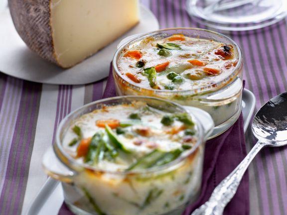 Gemüse-Käse-Gratin