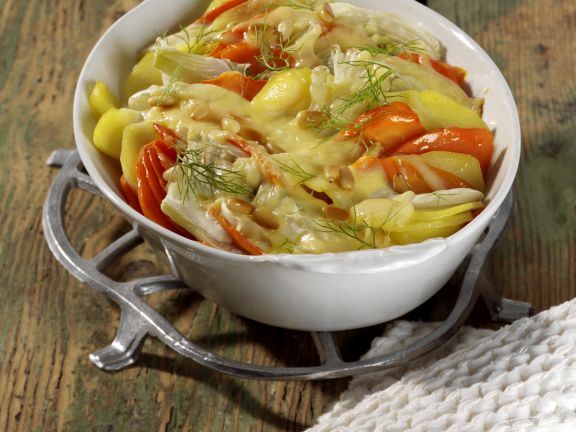 Gemüse-Kartoffel-Gratin