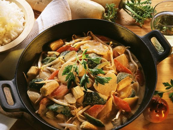Gemüse-Kokoscurry
