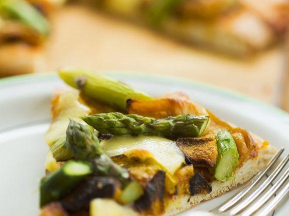 Gemüse-Kürbis-Pizza