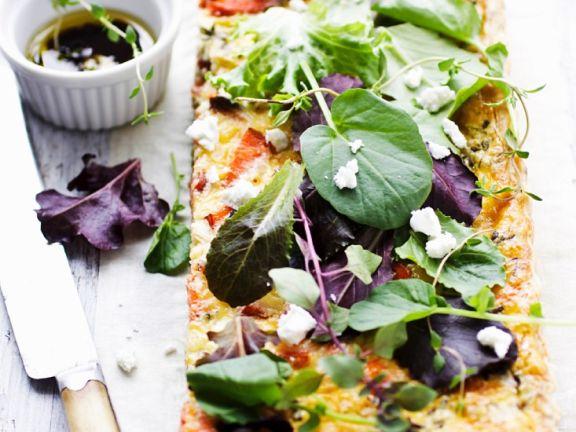 Gemüse-Lachs-Tarte