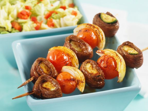 Gemüse-Lammfleisch-Spieße