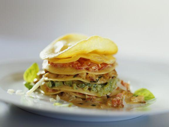 Gemüse-Lasagne-Türmchen