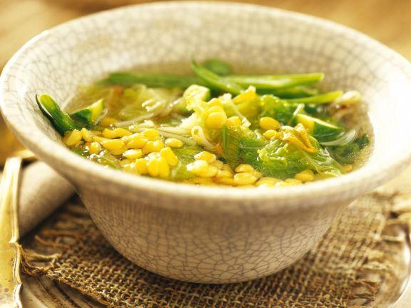 Gemüse-Linsen-Suppe