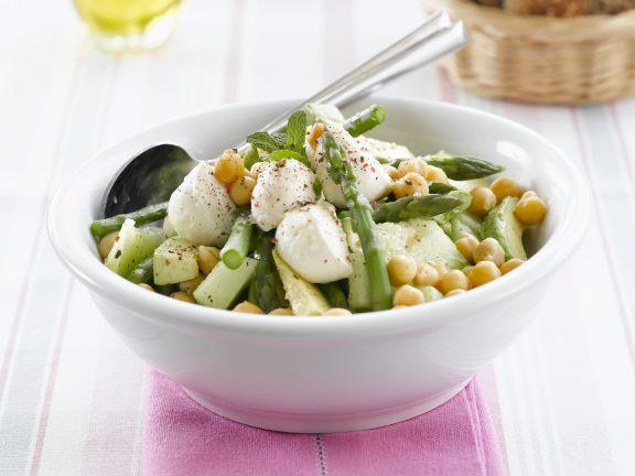 Gemüse-Melonen-Salat mit Mozzarella