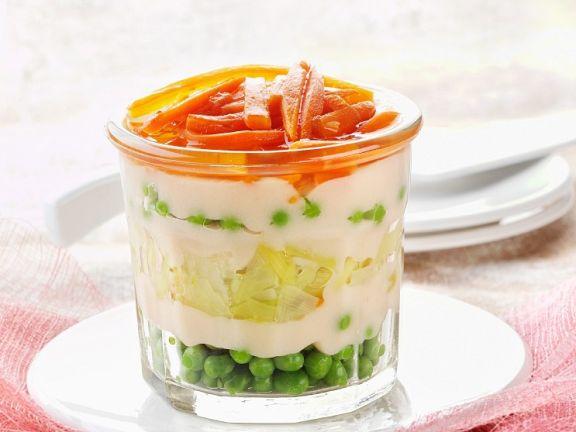 Gemüse mit cremiger Sauce
