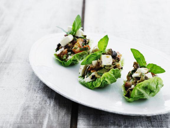 Gemüse mit Feta vom Grill