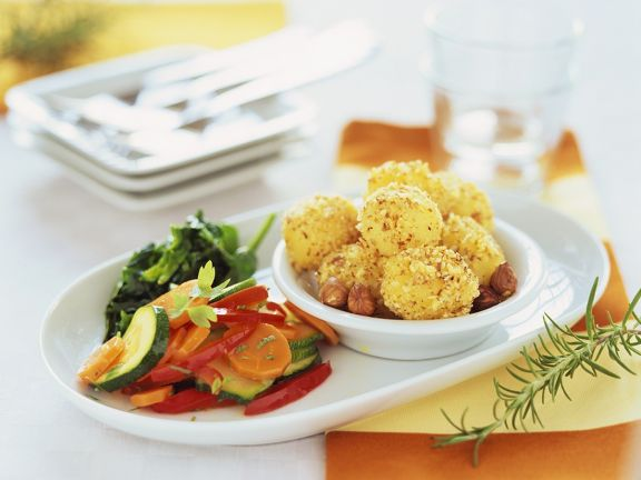Gemüse mit Haselnusskartoffeln