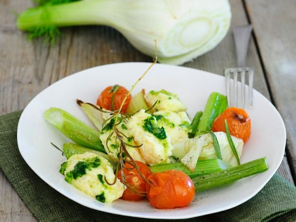 Gemüse mit Käseklößchen