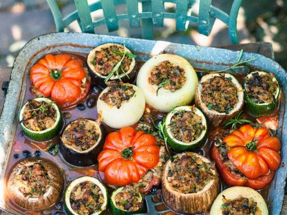 Gemüse mit pikanter Füllung