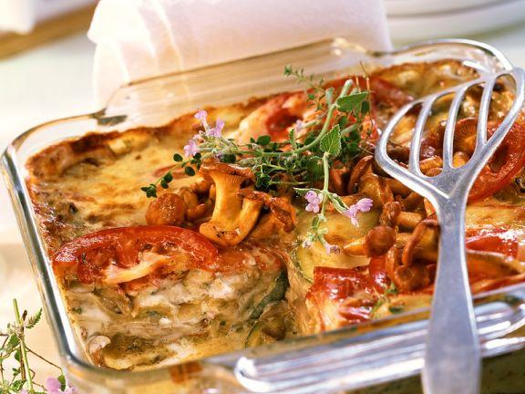 Gemüse-Pilzlasagne