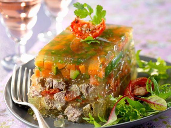 Gemüse-Rindfleisch-Sülze