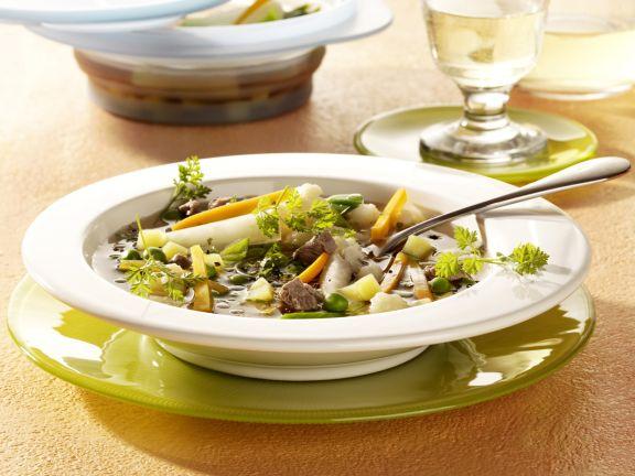 Gemüse-Rindfleisch-Suppe