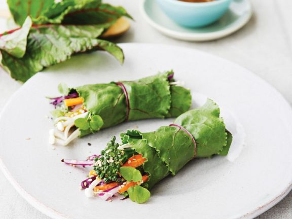 Gemüse-Salat-Wraps