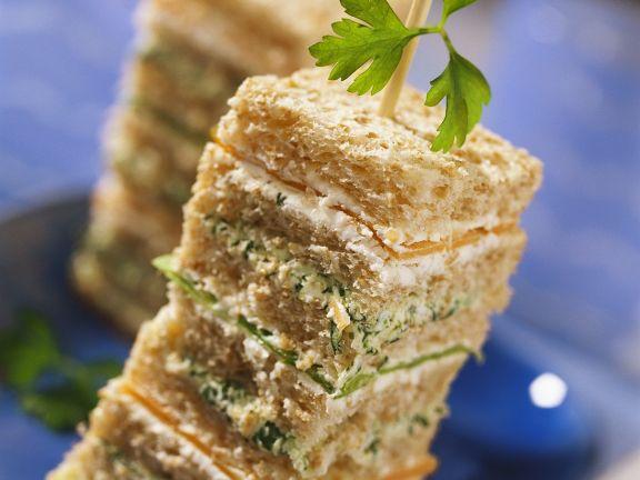 Gemüse-Sandwich-Türmchem