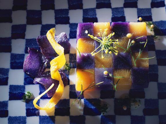 Gemüse-Schachbrett