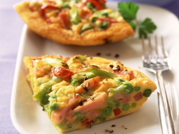 Gemüse-Schinken-Omelett