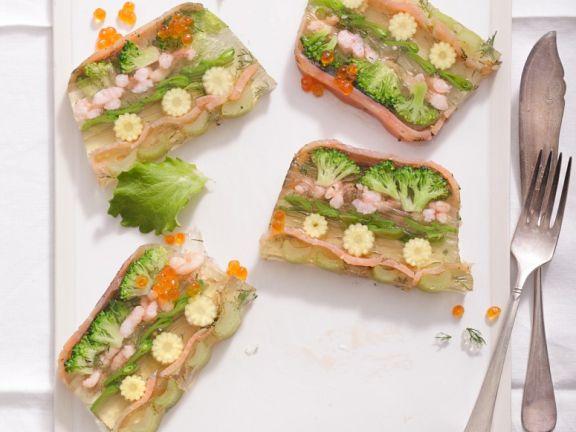 Gemüse-Shrimps-Sülze