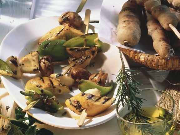 Gemüse-Spieße vom Grill