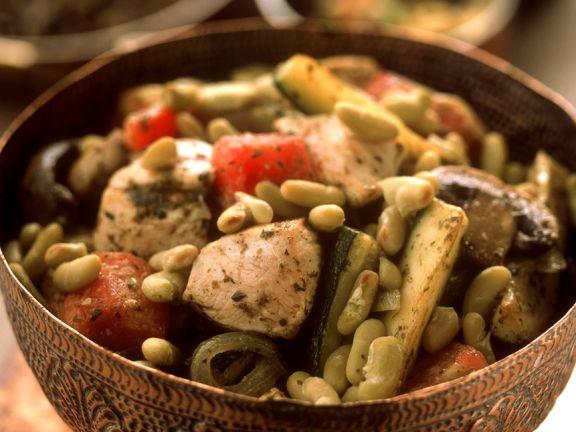 Gemüse-Tajine mit Hähnchenbrust