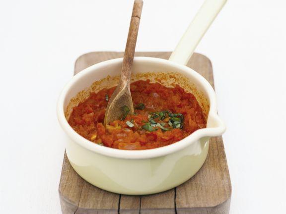 Gemüse-Tomaten-Soße