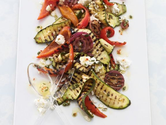 Gemüse vom Grill mit Schafskäse