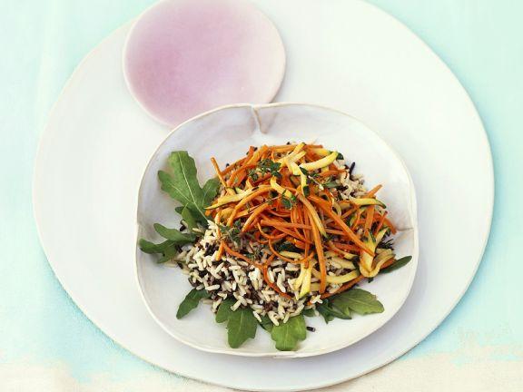 Gemüse-Wildreissalat