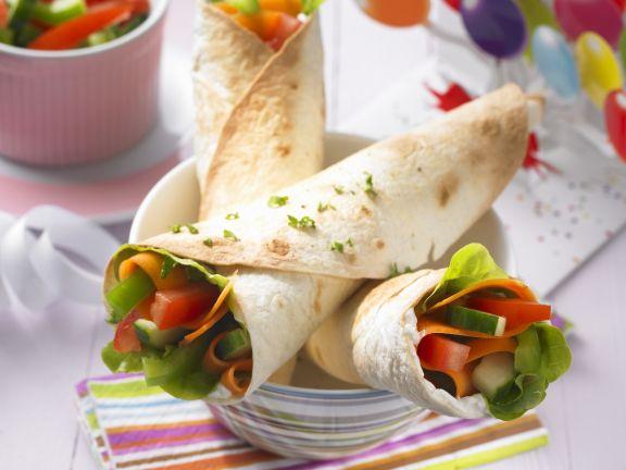 Gemüse-Wraps