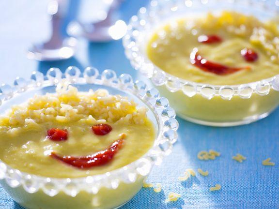 Gemüsecremesuppe für Kinder