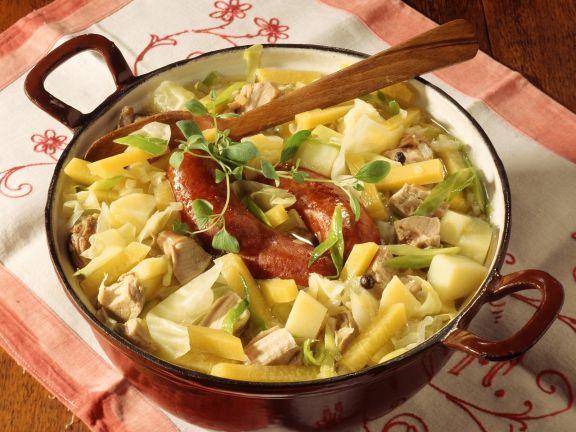 Gemüseeintopf mit Fleisch aus Sachsen-Anhalt