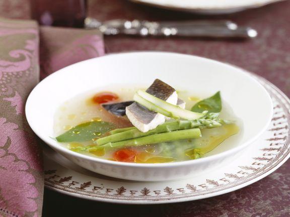 Gemüseeintopf mit Saibling