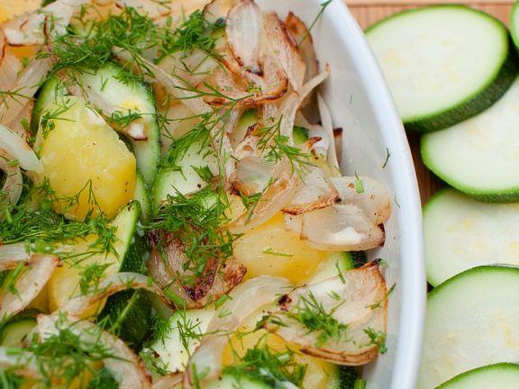 Gemüsegratin mit Zucchini und Kartoffeln