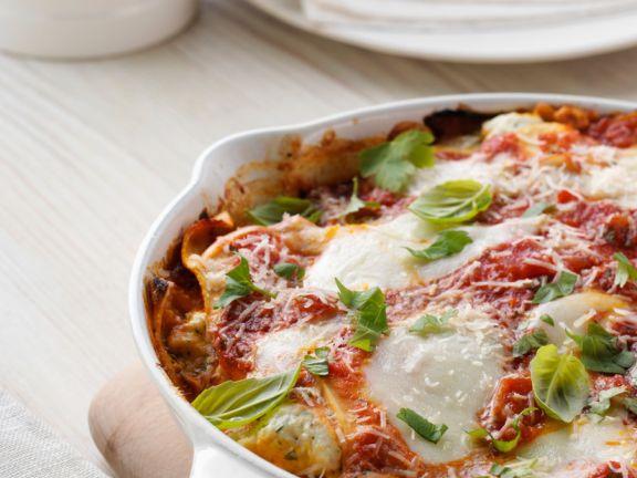 Gemüselasagne mit Mozzarella