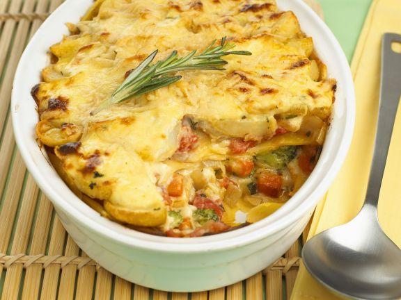 Gemüselasagne mit Kartoffeln